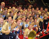 Handballjentene har fleire gonger fyllt idrettshallen i Førdehuset under landskampar i Førde.